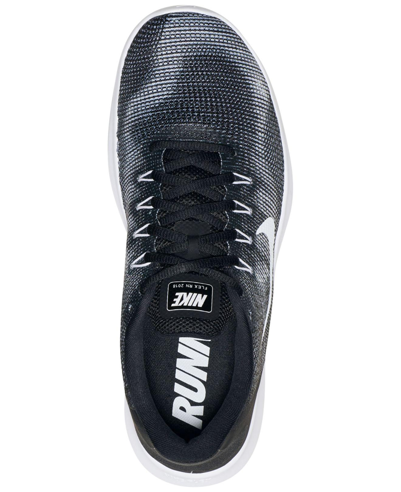 online store 6672f 50b74 Nike Flex Run 2018 Running Sneakers From Finish Line in Black for Men -  Save 51% - Lyst