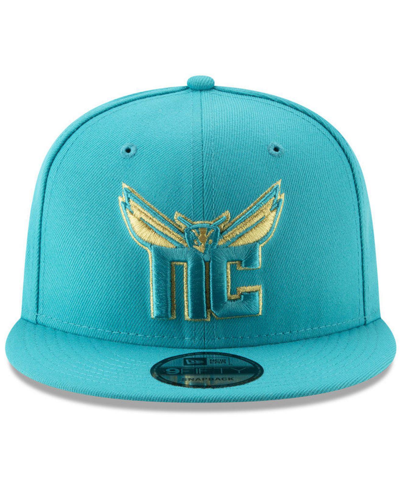finest selection f252c 44e61 ... order lyst ktz charlotte hornets mishmash 9fifty snapback cap in blue  for men 65239 6e078