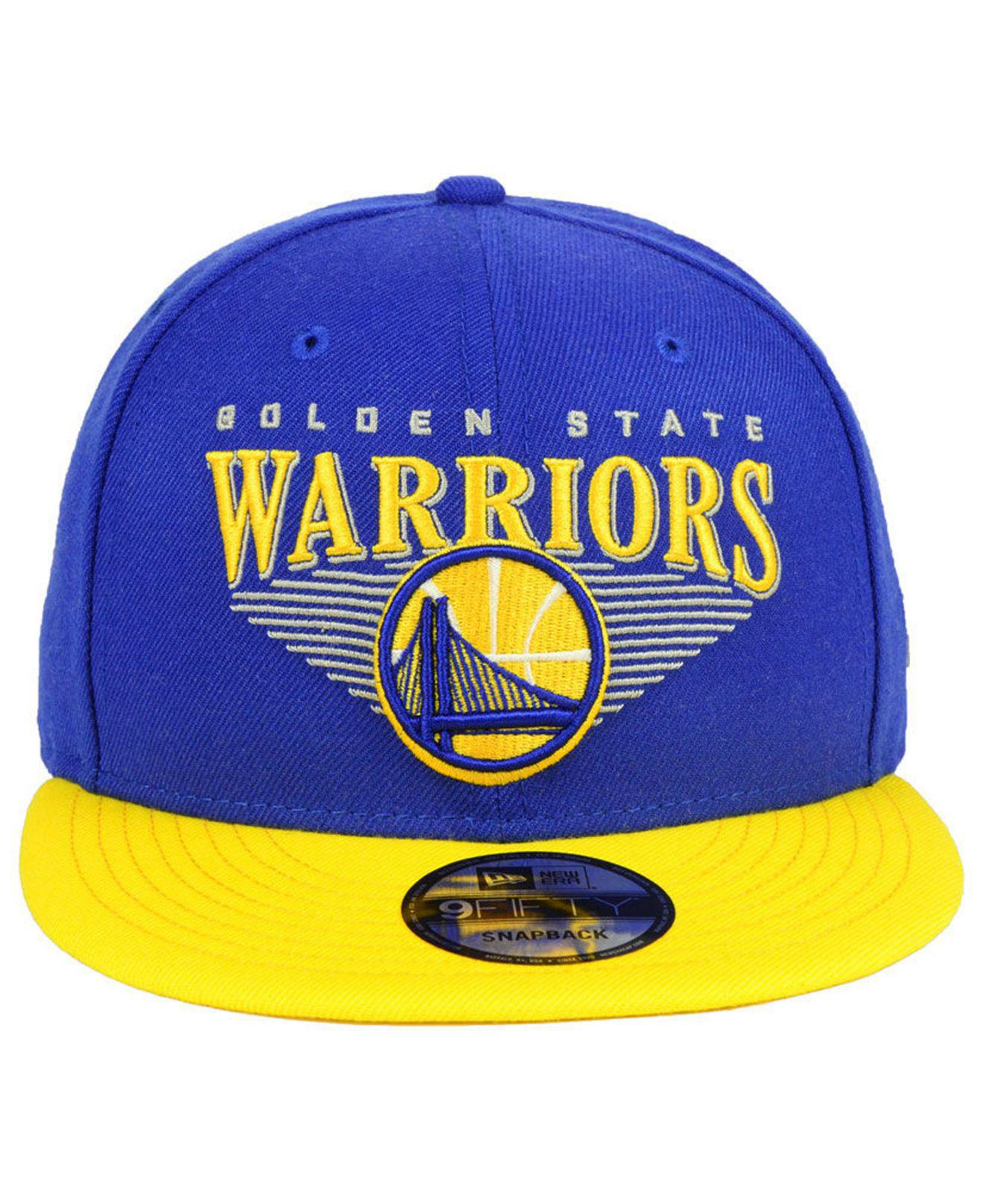 innovative design 2a10d 6da3d ... jock tag 9fifty snapback cap be33a 91563  official store lyst ktz  golden state warriors retro triangle 9fifty snapback cap in blue for men