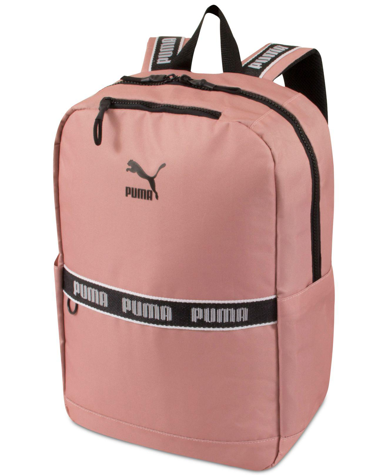 5e55e41726b Lyst - PUMA Linear Canvas Backpack in Pink