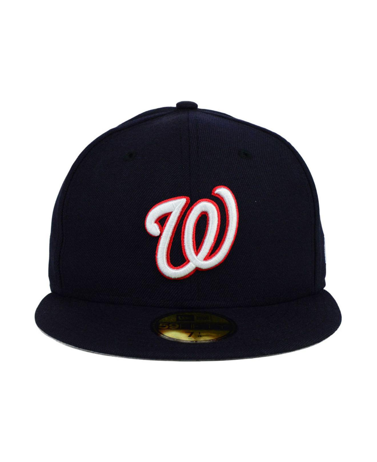 57cb1b00a08 Lyst - KTZ Washington Nationals Mlb Cooperstown 59fifty Cap in Blue for Men