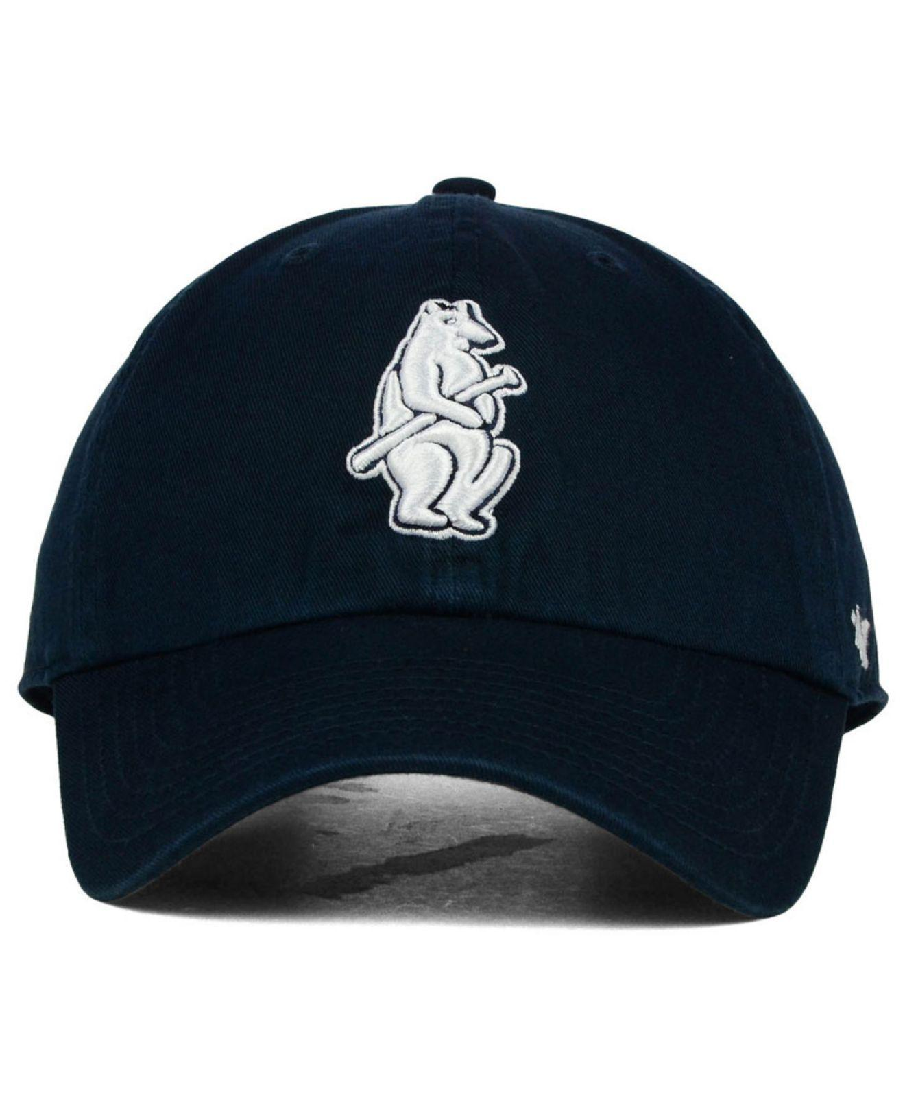 Lyst - 47 Brand Chicago Cubs Core Clean Up Cap in Blue for Men d92412048333