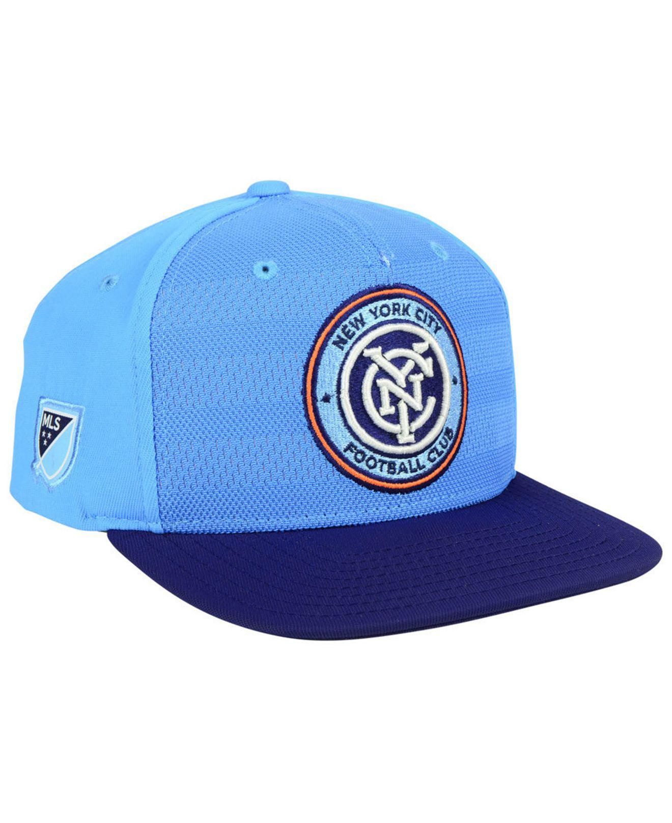 cheaper 7d84f 24c98 Lyst - Adidas New York City Fc Authentic Snapback Cap in Blue for Men