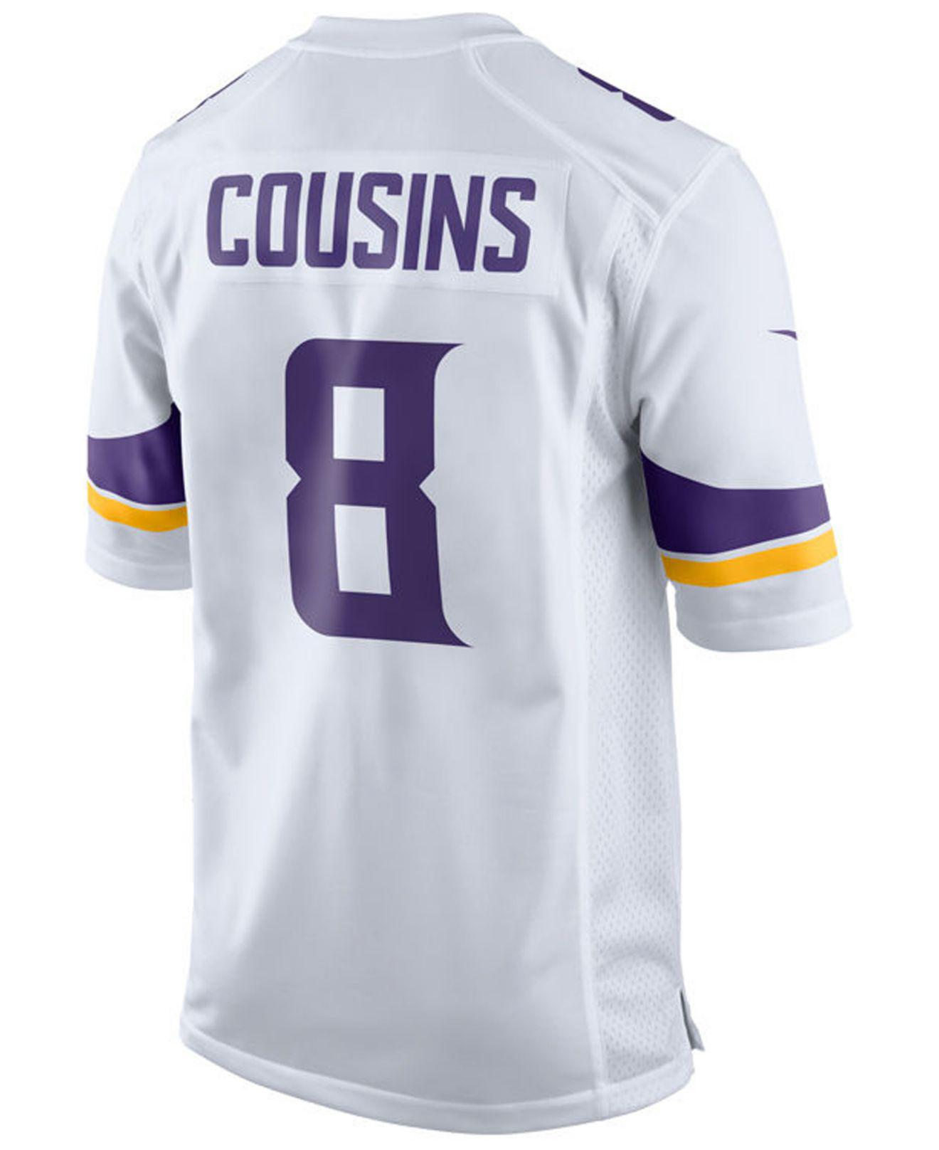 Lyst - Nike Kirk Cousins Minnesota Vikings Game Jersey in White for Men 119a8d889