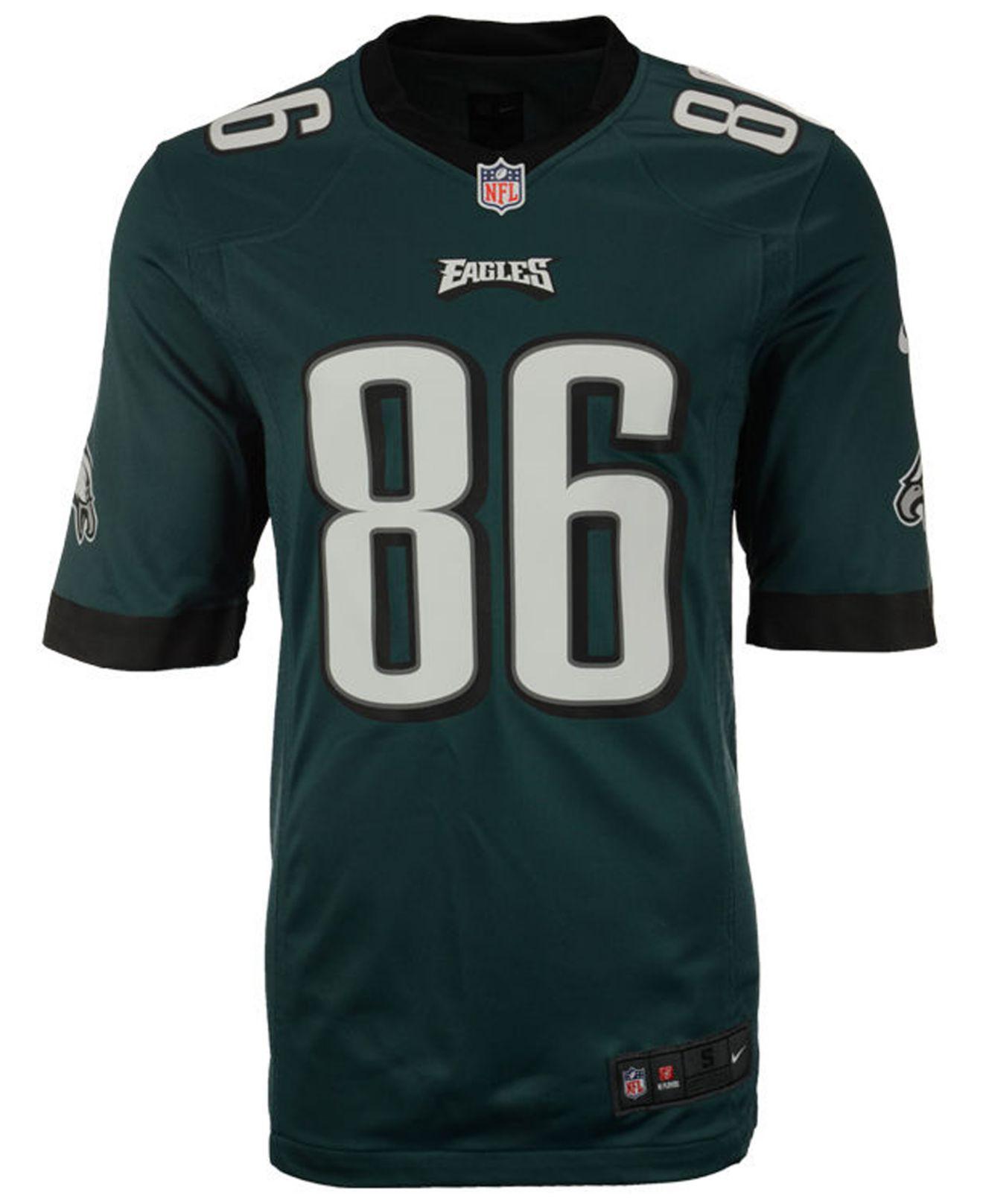 Lyst - Nike Zach Ertz Philadelphia Eagles Game Jersey in Green for Men -  Save 33% 084bd12e2