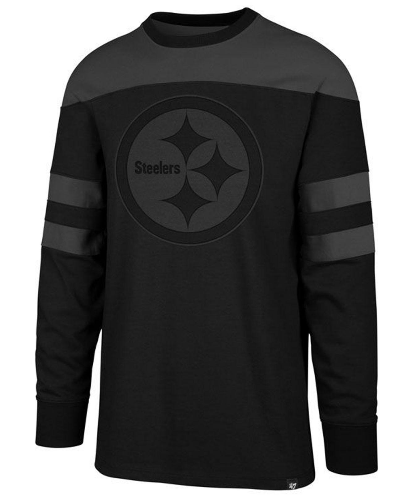 Lyst - 47 Brand Pittsburgh Steelers Gunner Crew Long Sleeve T-shirt ... aa1c81f46