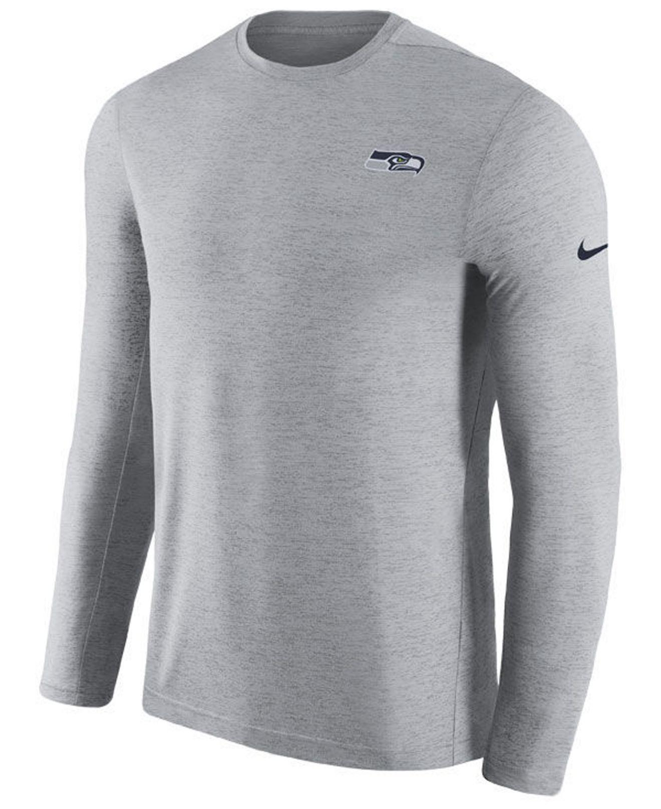 Discount Nike Seattle Seahawks Coaches Long Sleeve Top in Gray for Men Lyst