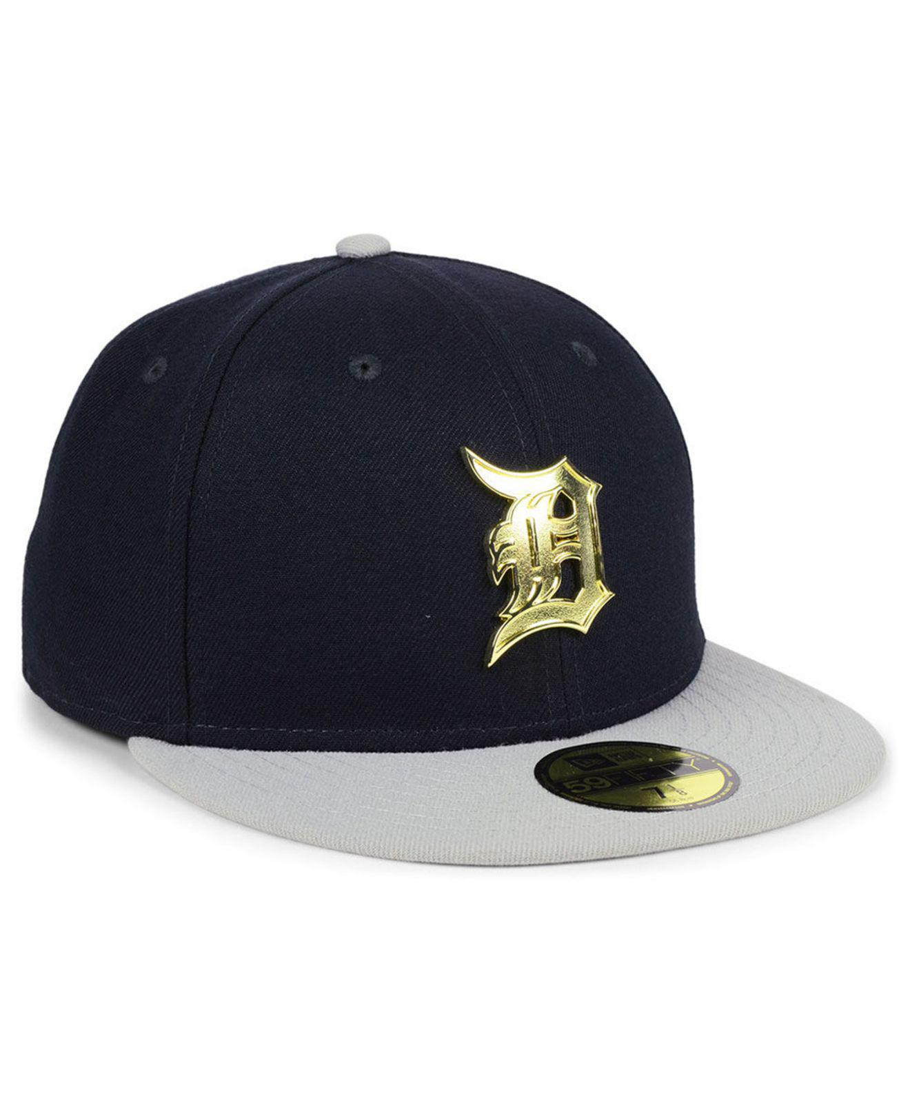 more photos 6259a 99c03 ... coupon for detroit tigers golden finish 59fifty fitted cap for men lyst.  view fullscreen 4547d