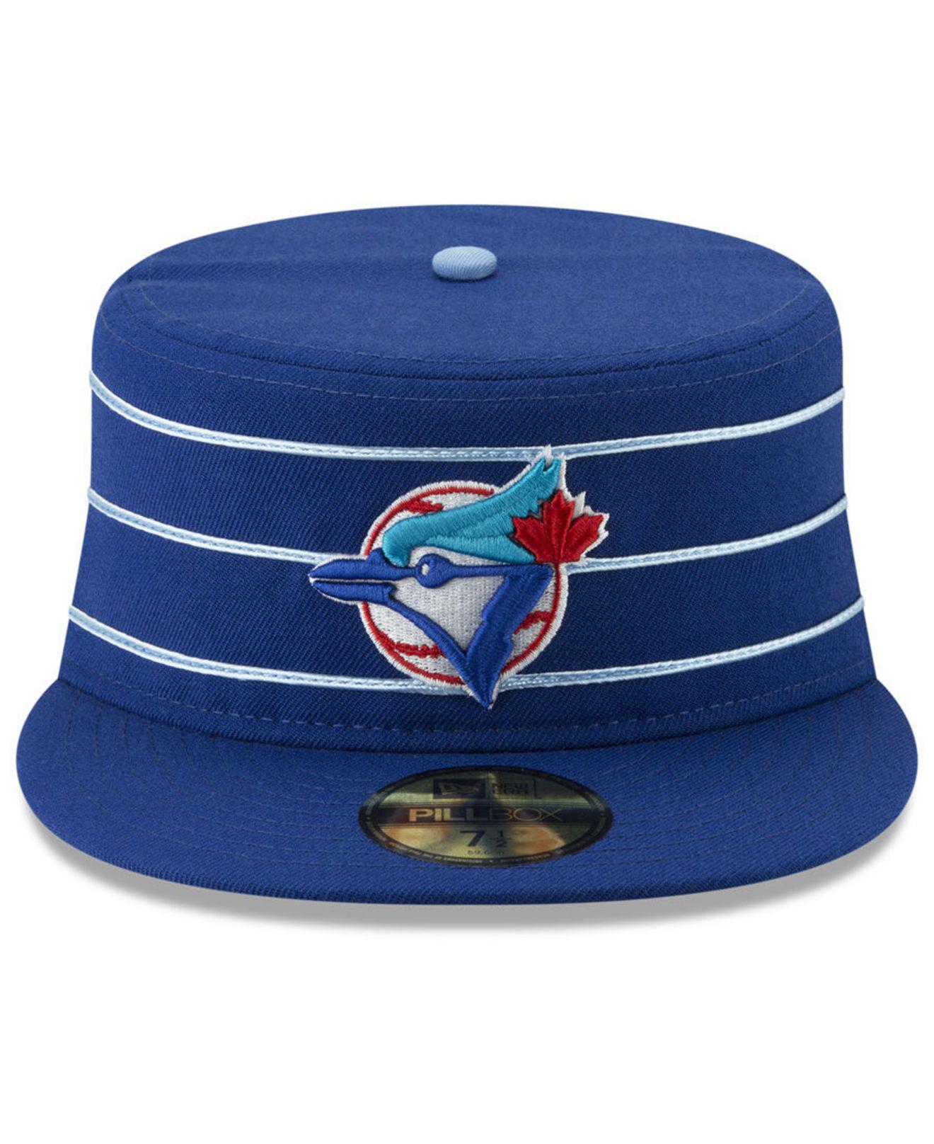 premium selection ad5d4 058c0 KTZ Toronto Blue Jays Pillbox 59fifty-fitted Cap in Blue for Men - Lyst