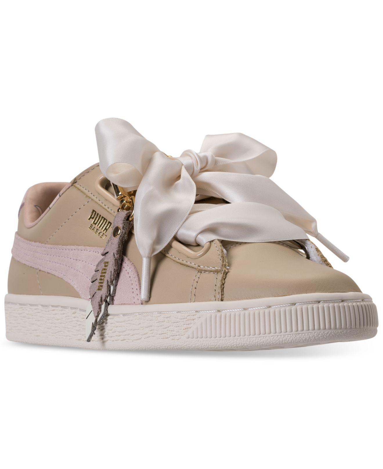 3fe038e089a ... canada discount lyst puma basket heart coach casual sneakers from  finish line c3898 115d0 f9b27 5ff7d