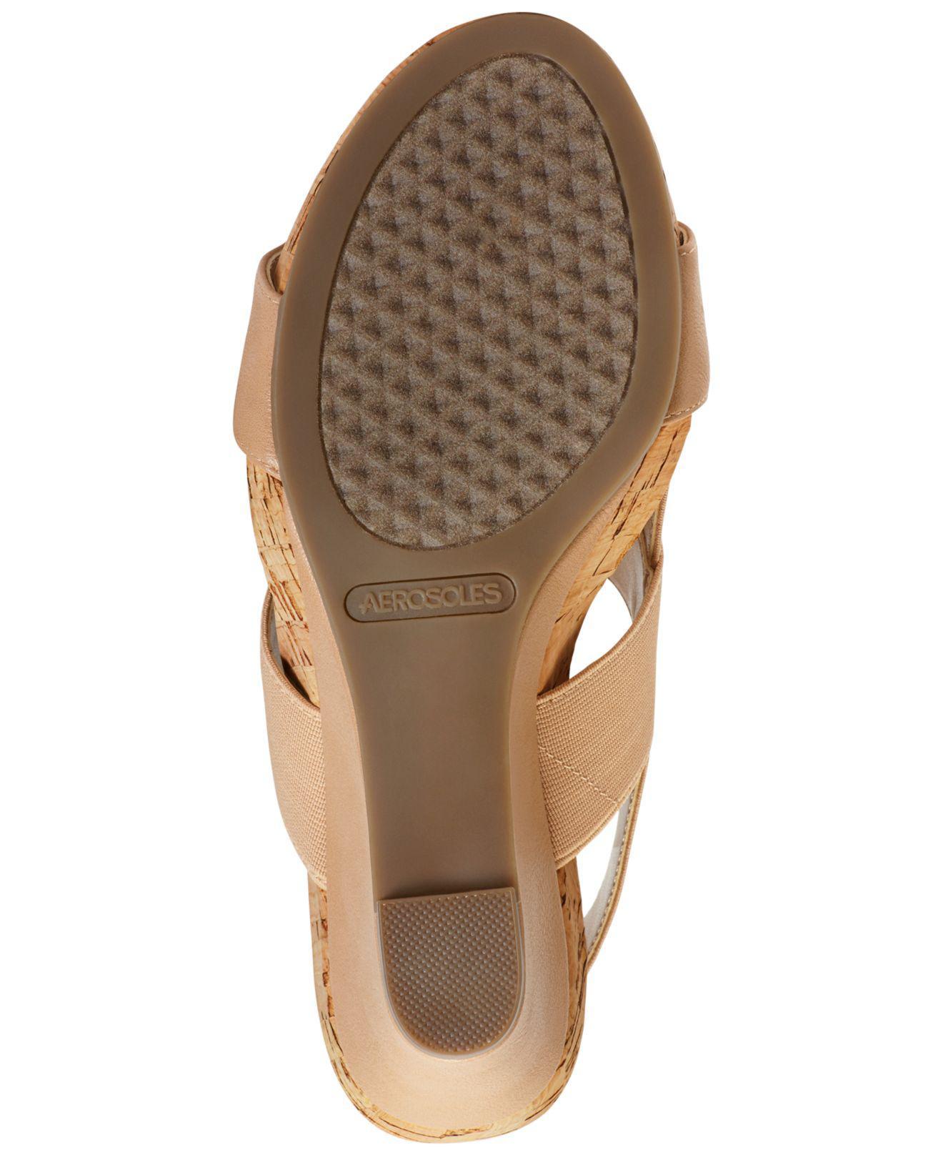 42fb5f8bdb2 Lyst - Aerosoles Magnolia Plush Slingback Sandal in Brown