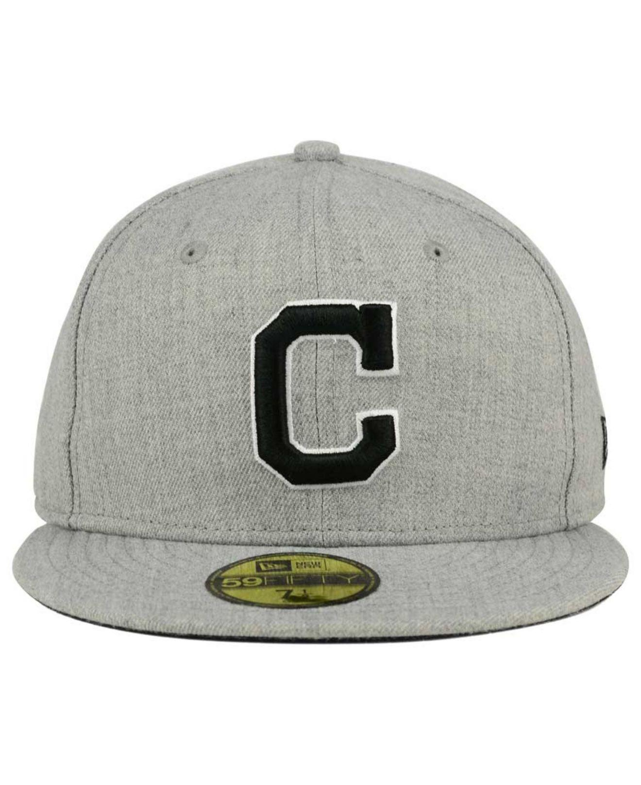 quality design bf5da 5354d ... order lyst ktz cleveland indians heather black white 59fifty cap in  gray for men 75b93 3aac4