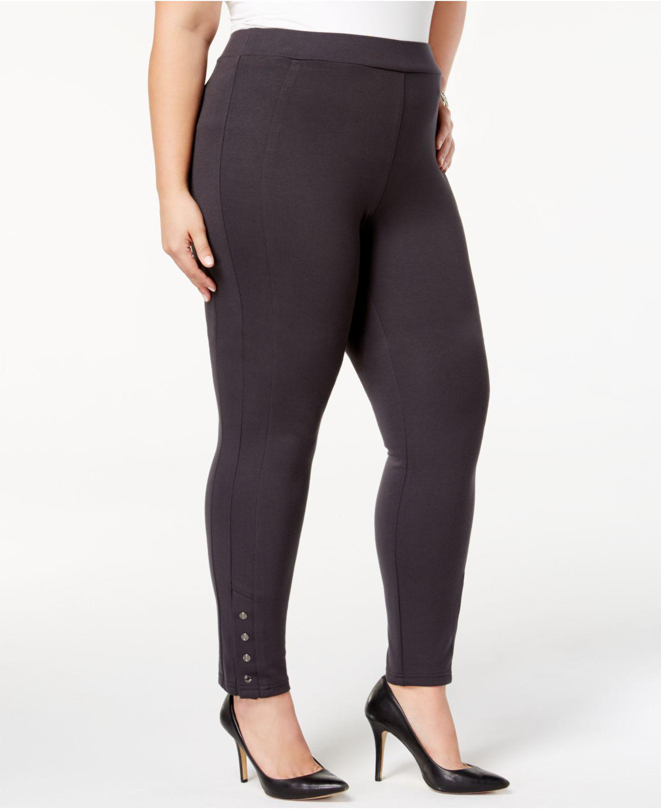 e33bd1095f3 Lyst - Style   Co. Plus Size Ponté Knit Snap-bottom Leggings in Gray