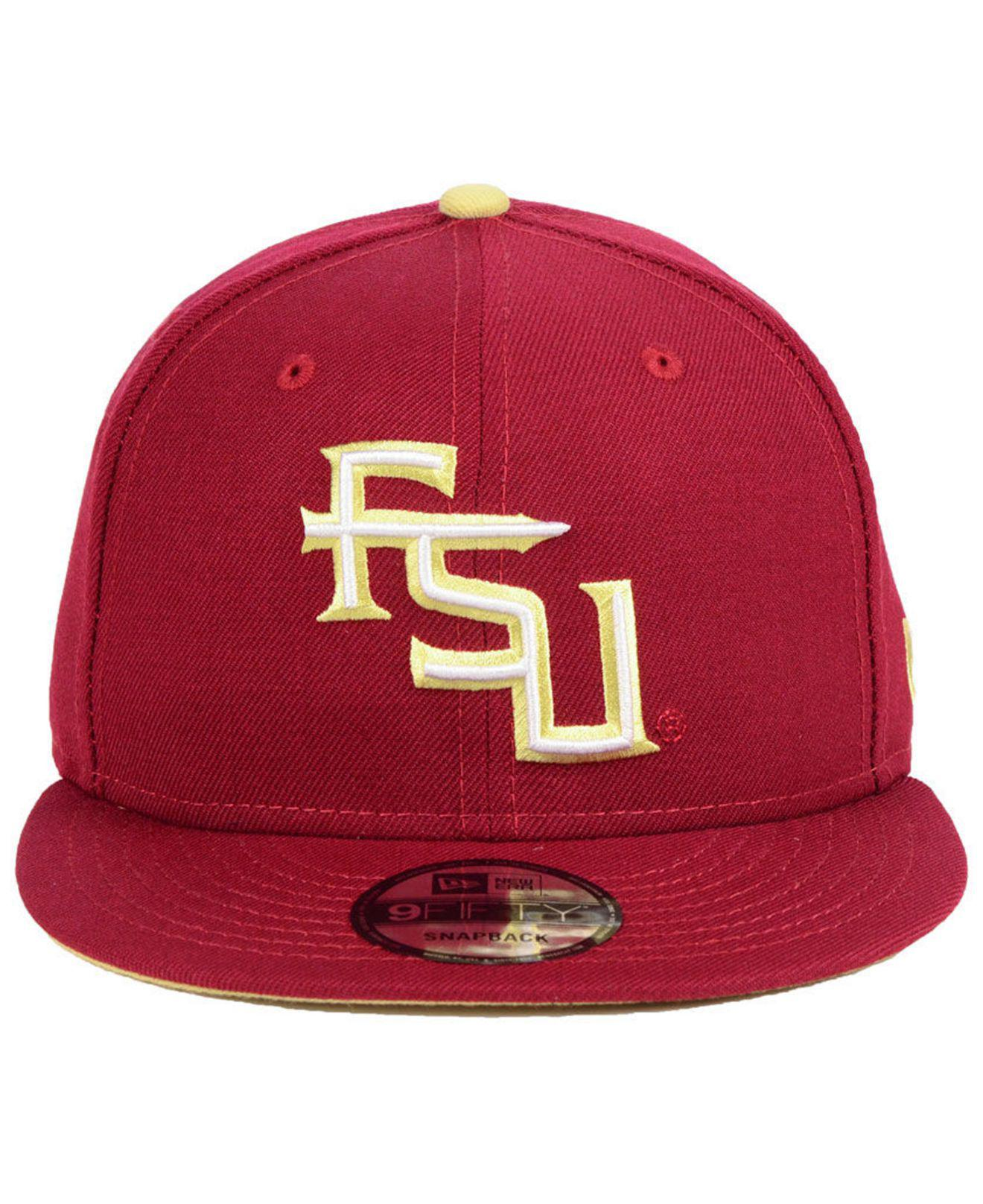 check out 088c4 7996b Lyst - KTZ Florida State Seminoles Core 9fifty Snapback Cap in Red for Men