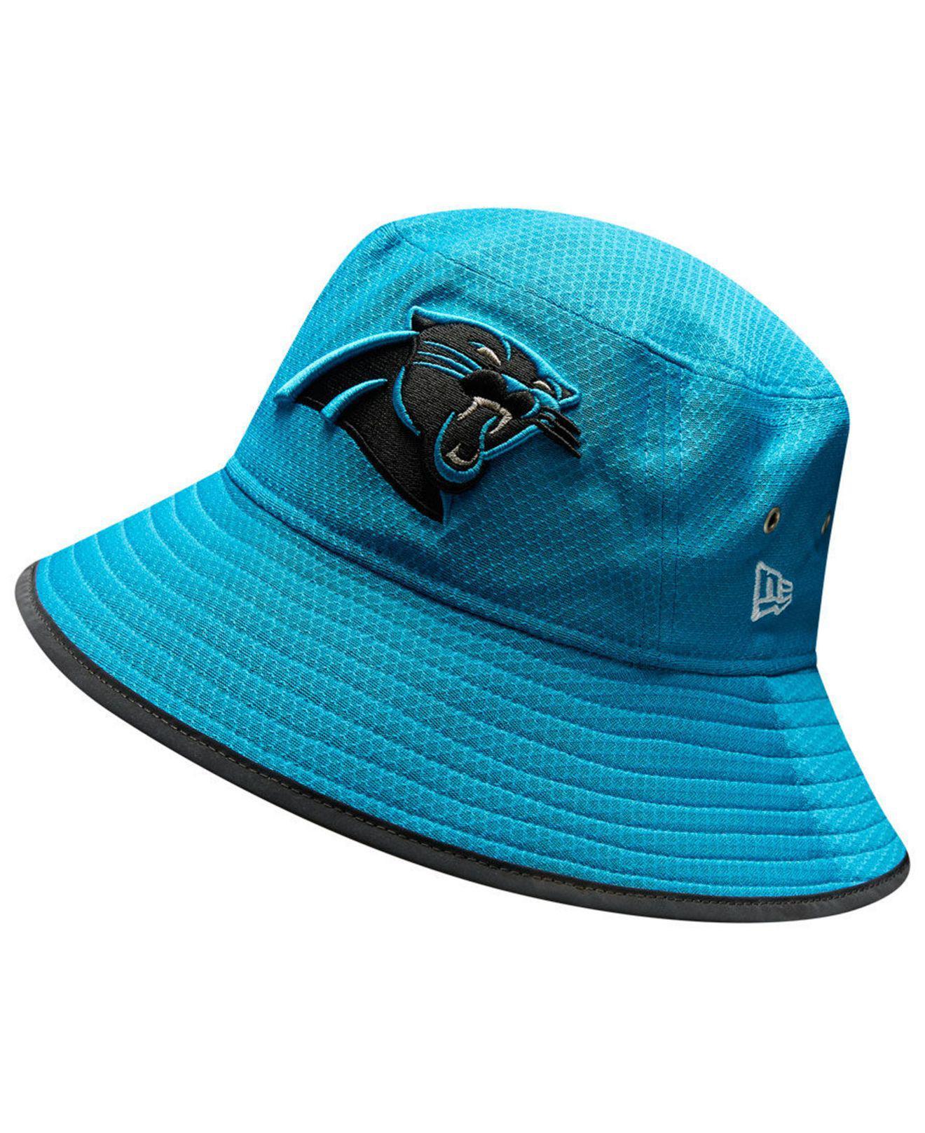 Lyst - Ktz Carolina Panthers Training Bucket Hat in Blue 297509ade