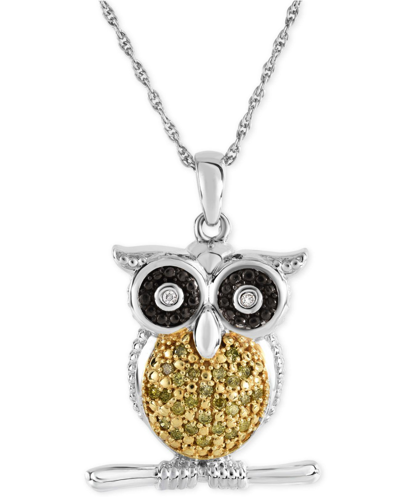 rack necklace product pendant crystal shop nordstrom of nadri image owl