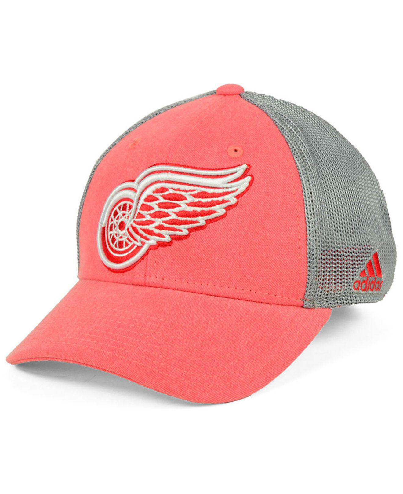 27d0e8c01857b Lyst - adidas Detroit Red Wings Geno Flex Cap in Red for Men