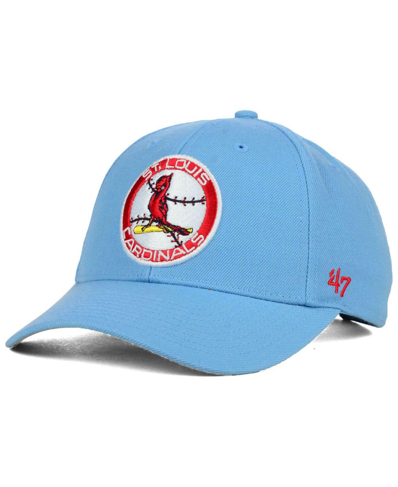 Lyst 47 Brand St Louis Cardinals Mvp Curved Cap In Blue For Men d7dc8c9d034