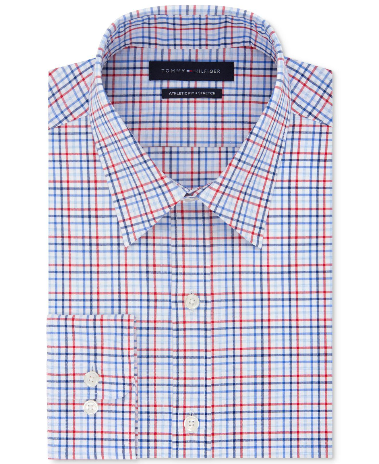691aba412 Tommy Hilfiger Mens Athletic Fit Dress Shirt