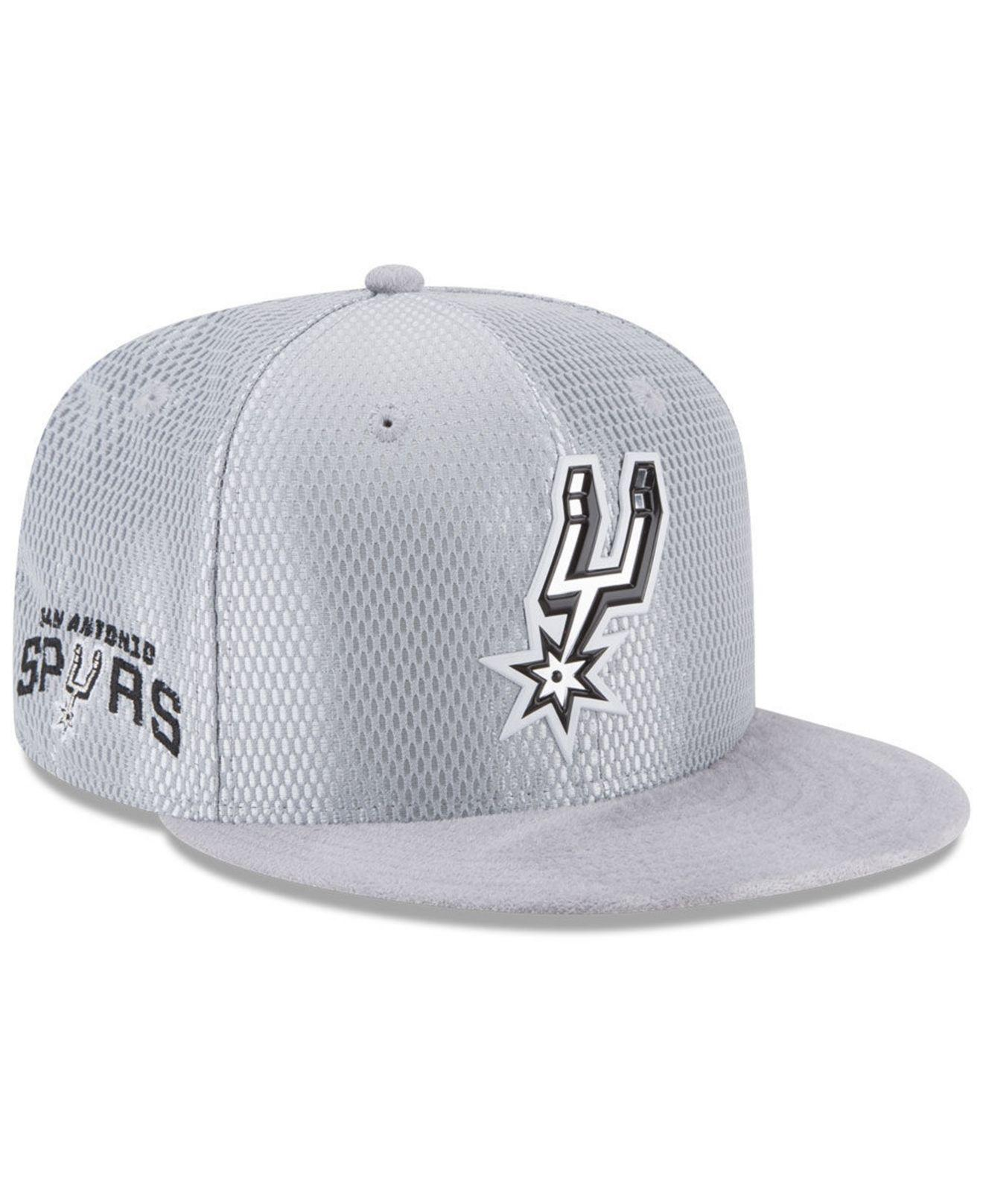 new arrival f4276 c5ff9 Lyst - KTZ San Antonio Spurs On Court Reverse 9fifty Snapback Cap ...