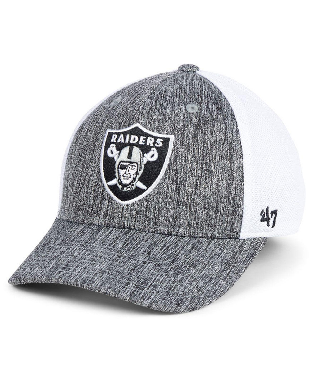the latest a63f2 073c1 47 Brand. Men s Oakland Raiders Hazy Flex Contender Stretch Fitted Cap