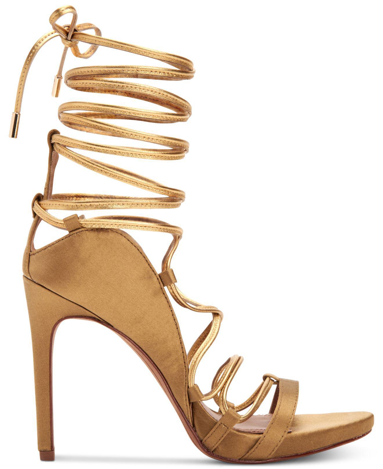 d4d0ee585523 Lyst - BCBGMAXAZRIA Esme Strappy Dress Sandals in Metallic - Save 31%