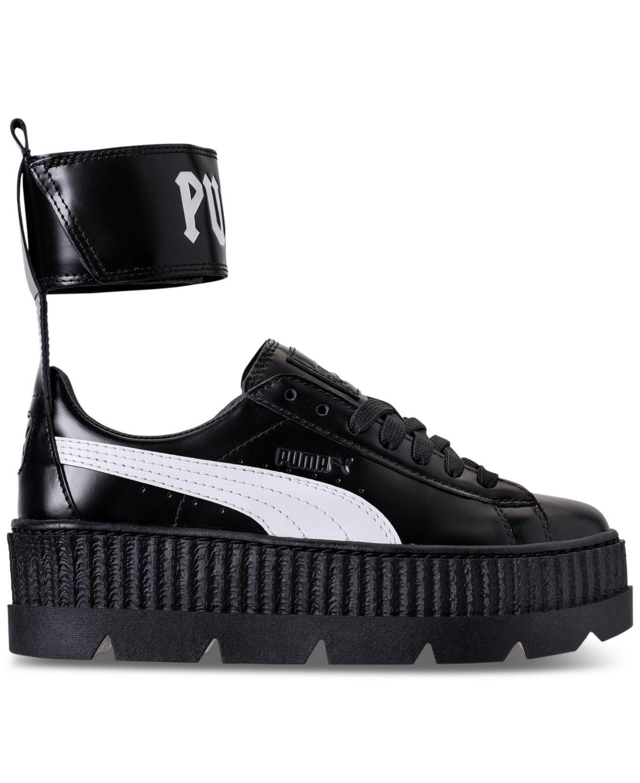 a1447463905901 Lyst - PUMA Women s Fenty X Rihanna Ankle Strap Creeper Casual ...