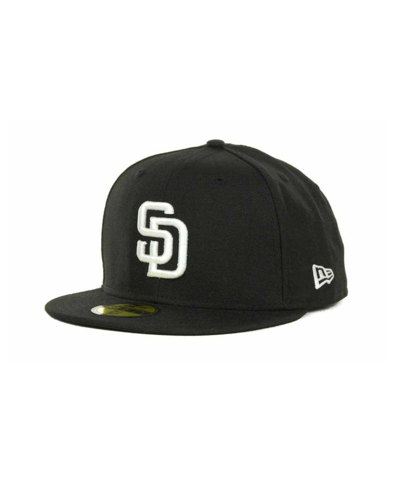04799c2a83d27 Lyst - KTZ San Diego Padres Mlb B-dub 59fifty Cap in Black for Men