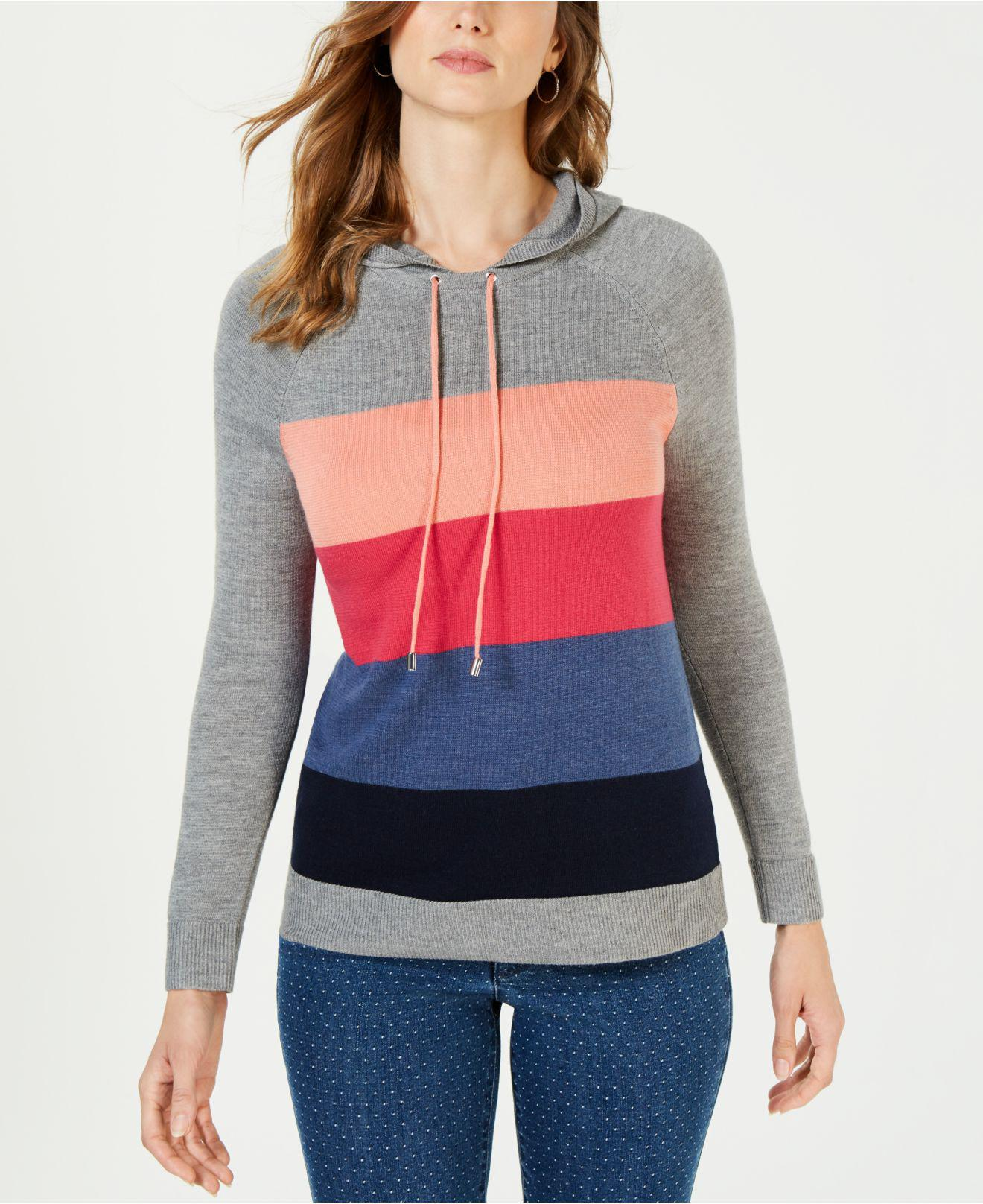 68fc40c0808 Lyst - Charter Club Colorblocked Sweater Hoodie, Created For Macy's ...