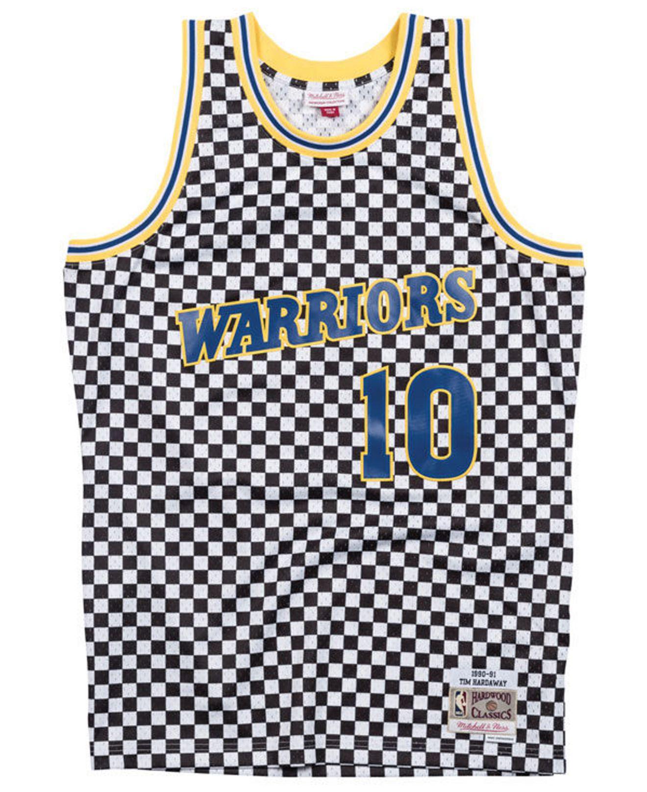 fd77ca03b9c Mitchell & Ness - Multicolor Tim Hardaway Golden State Warriors  Checkerboard Swingman Jersey for Men -. View fullscreen