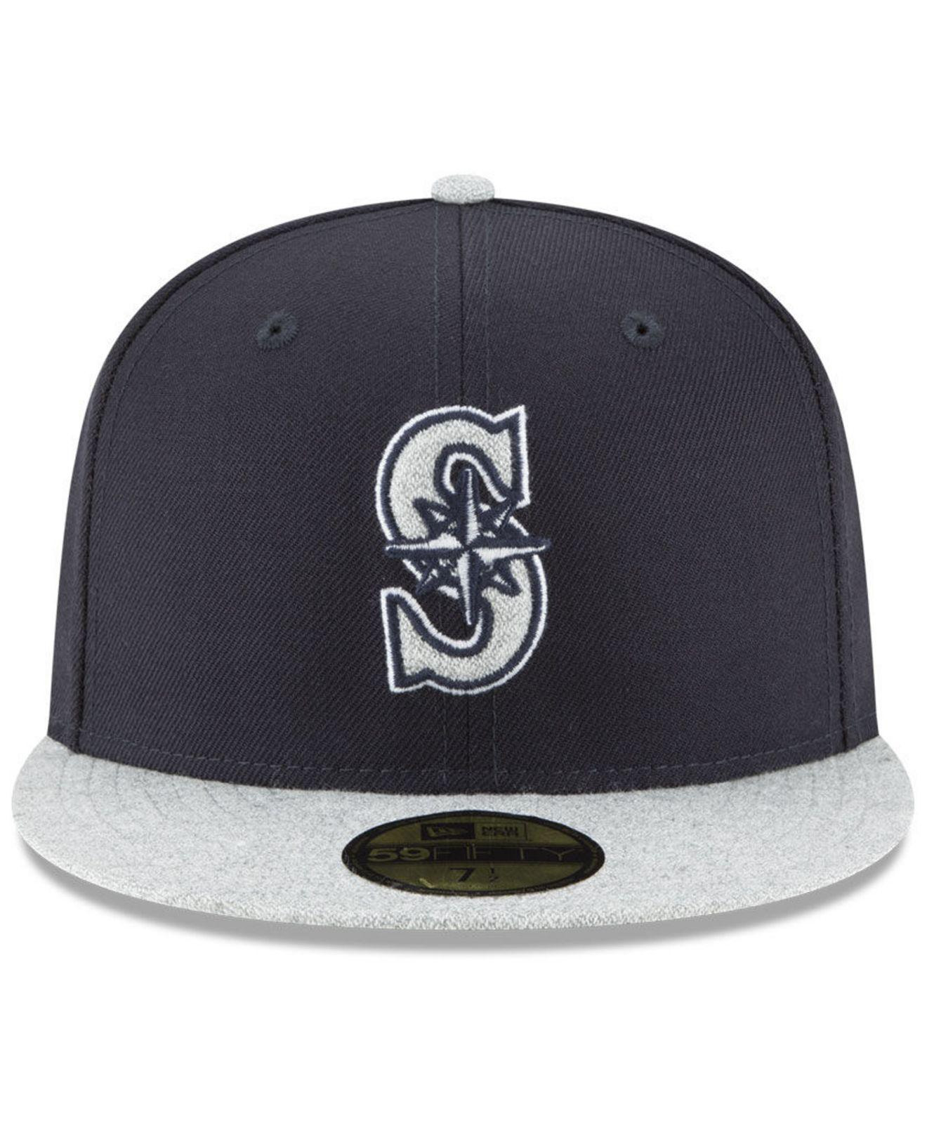 new product 9e89c b0e85 ... free shipping lyst ktz seattle mariners pop color 59fifty fitted cap in  blue for men aa083