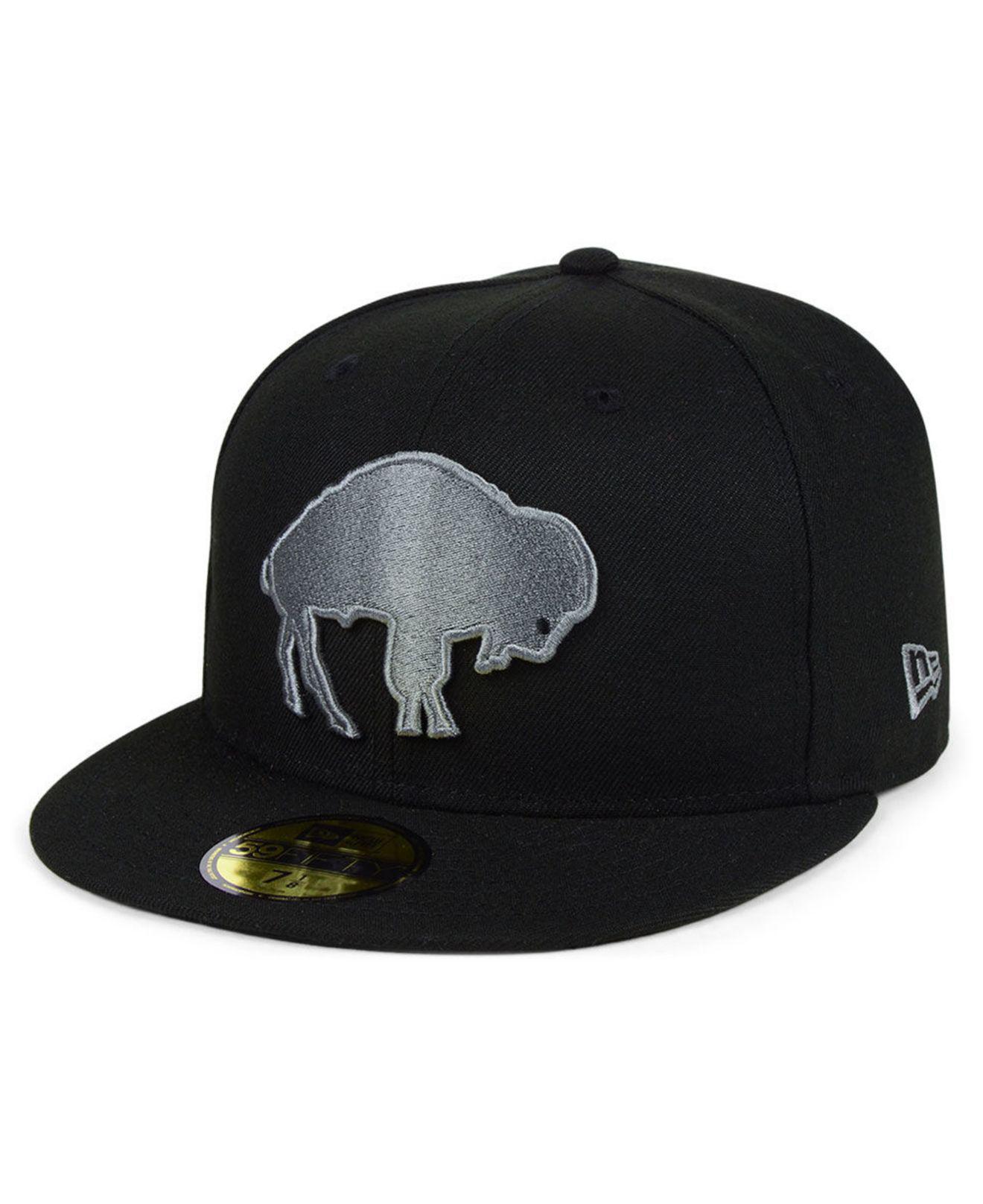 watch 705cf d9f69 ... sweden ktz. mens buffalo bills black gray basic 59fifty fitted cap  37577 707f7