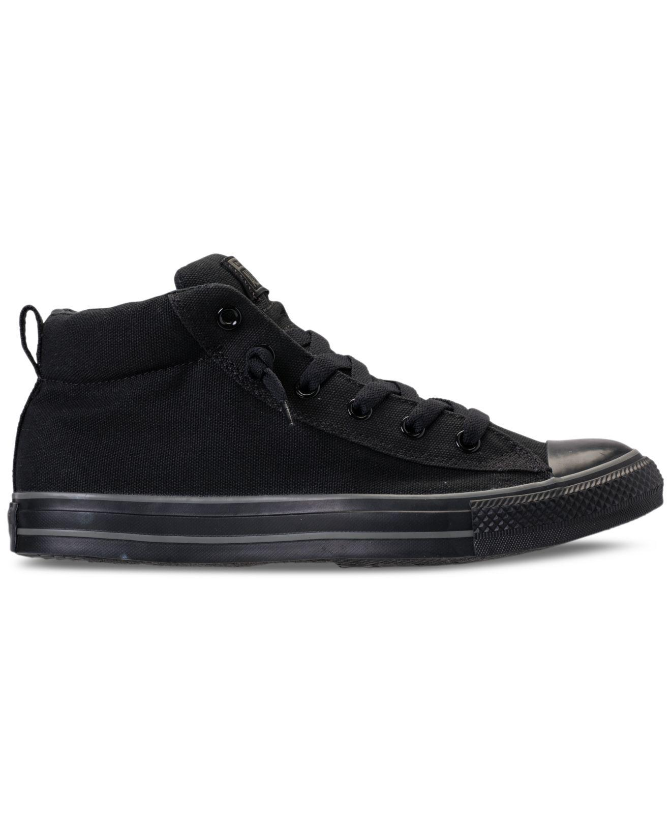 1c447625a02c Lyst - Converse Men s Chuck Taylor All Star Street Mid Casual Sneakers From Finish  Line in Black for Men