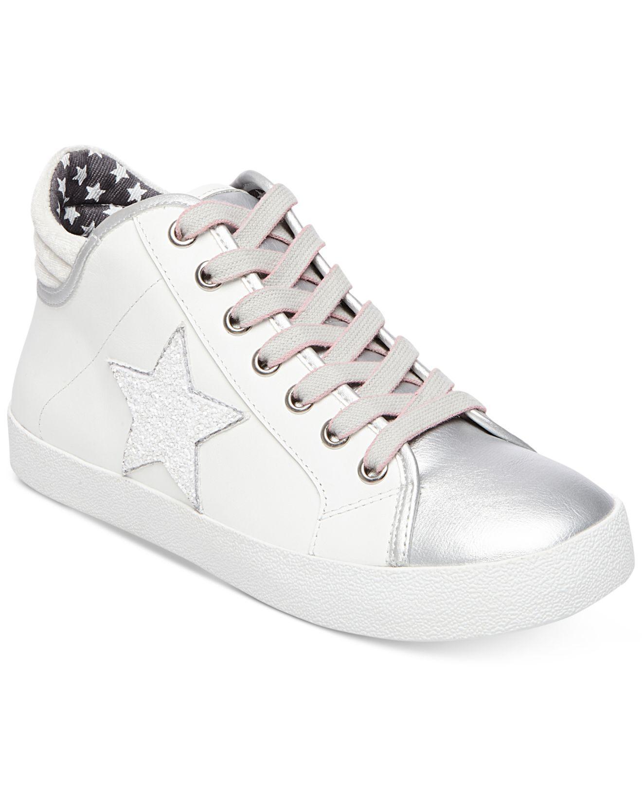 3d54e0a532e Lyst - Steve Madden Women s Savior Star Sneakers in White