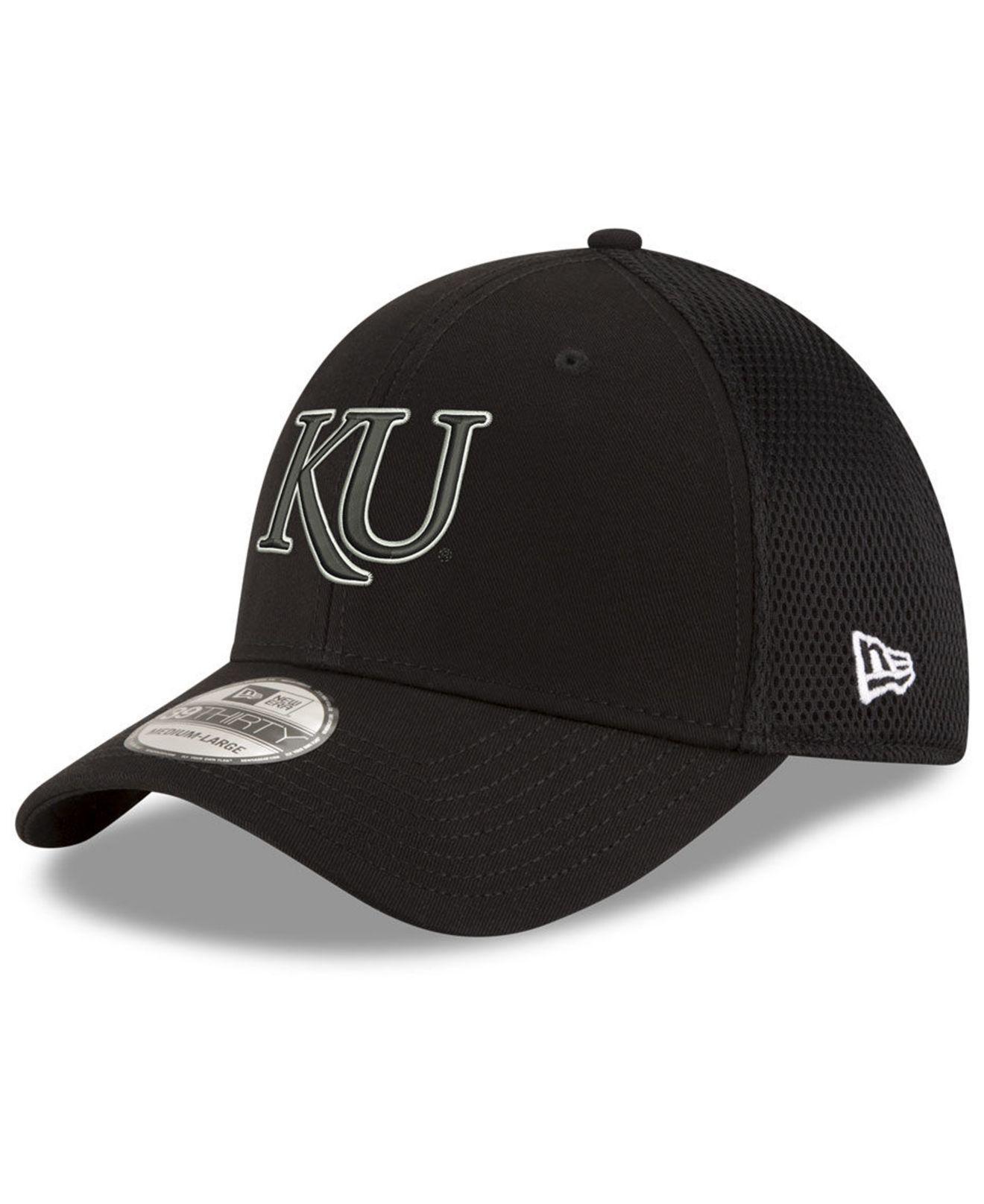 online store ca7be 95018 KTZ. Men s Kansas Jayhawks Black White Neo 39thirty Cap