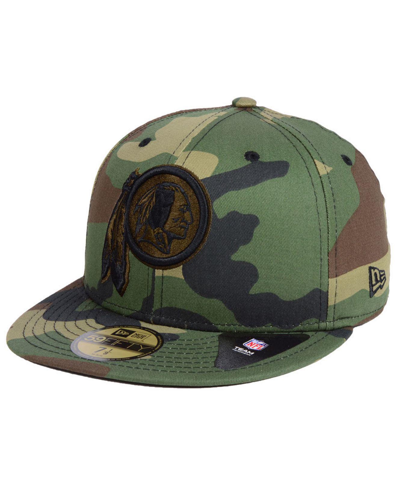 KTZ. Men s Green Washington Redskins Woodland Prism Pack 59fifty-fitted Cap 9485df6d6