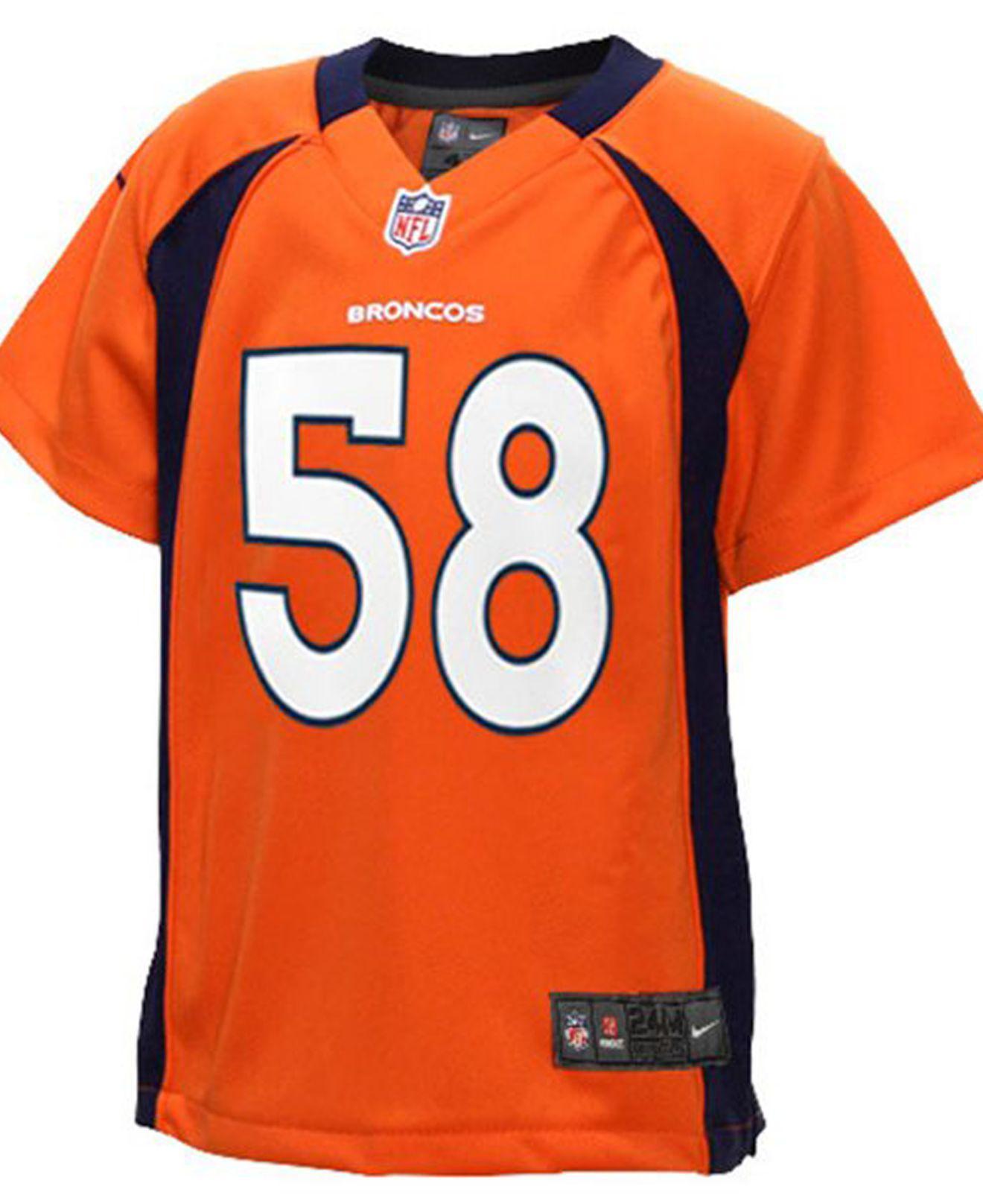 3a1c2aa8e Nike Toddlers  Von Miller Denver Broncos Jersey in Orange for Men - Lyst