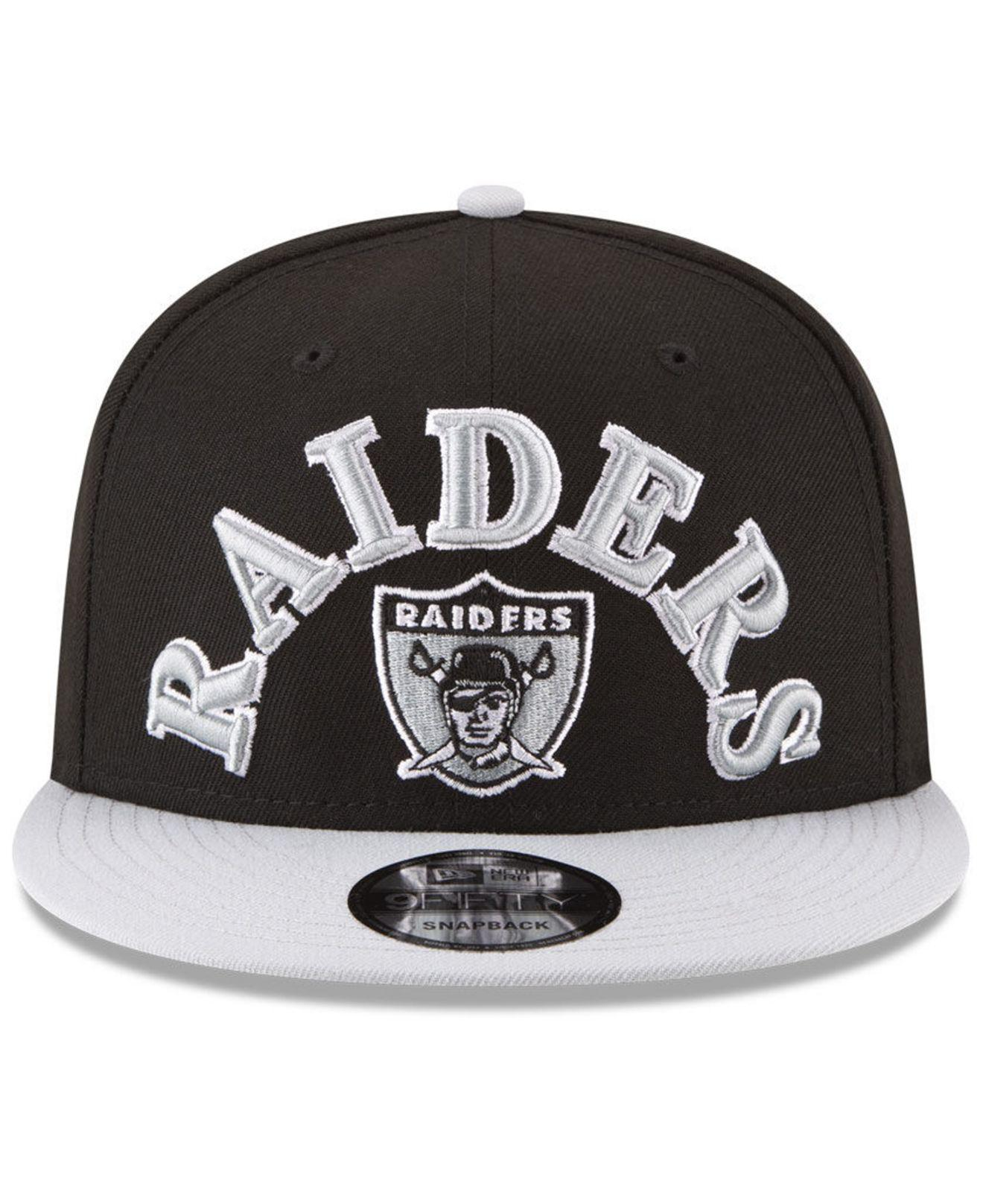 official photos 8616b 757be ... wholesale lyst ktz oakland raiders retro logo 9fifty snapback cap in  black for men 666de 21779 ...