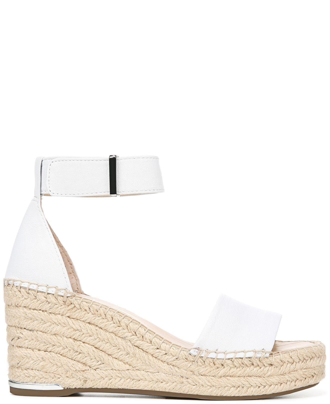 0d3e1d5449e Lyst - Franco Sarto Clemens Wedge Sandals in White