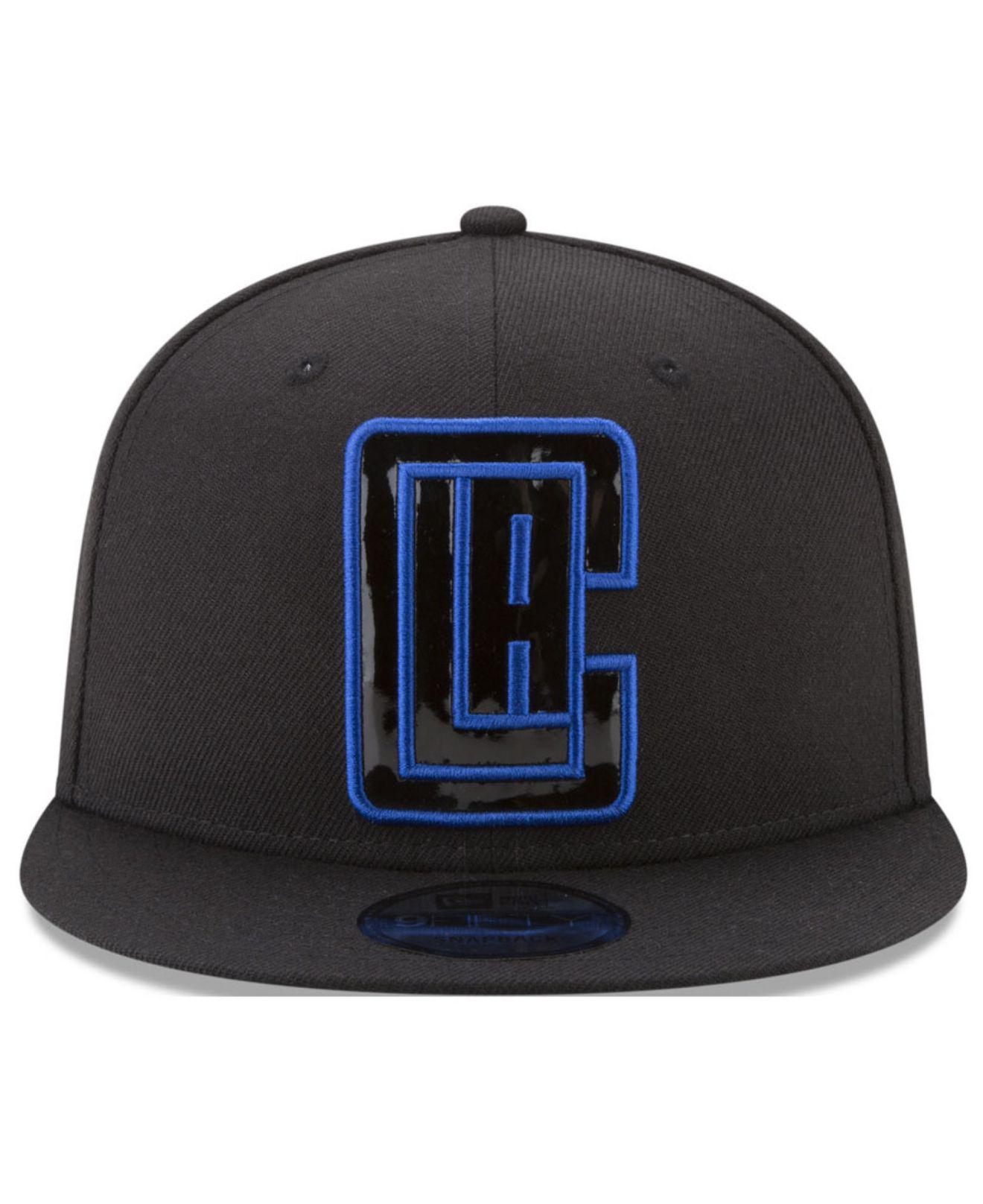 differently 54e1a f99de ... real lyst ktz patent blackout 9fifty snapback cap in black for men  ee44a 76ab8