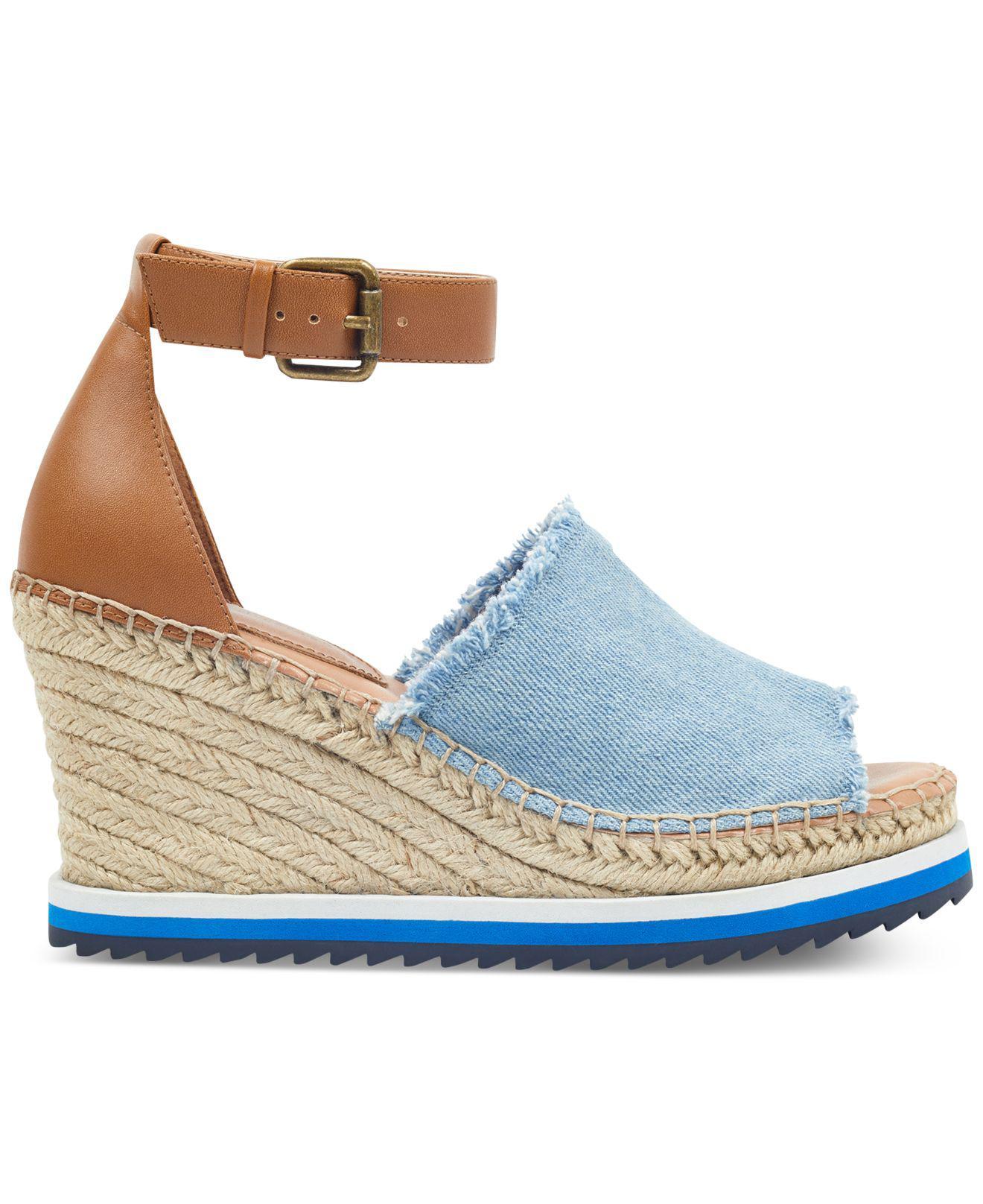 7839d704924 Tommy Hilfiger - Blue Yavino Espadrille Platform Wedge Sandals - Lyst