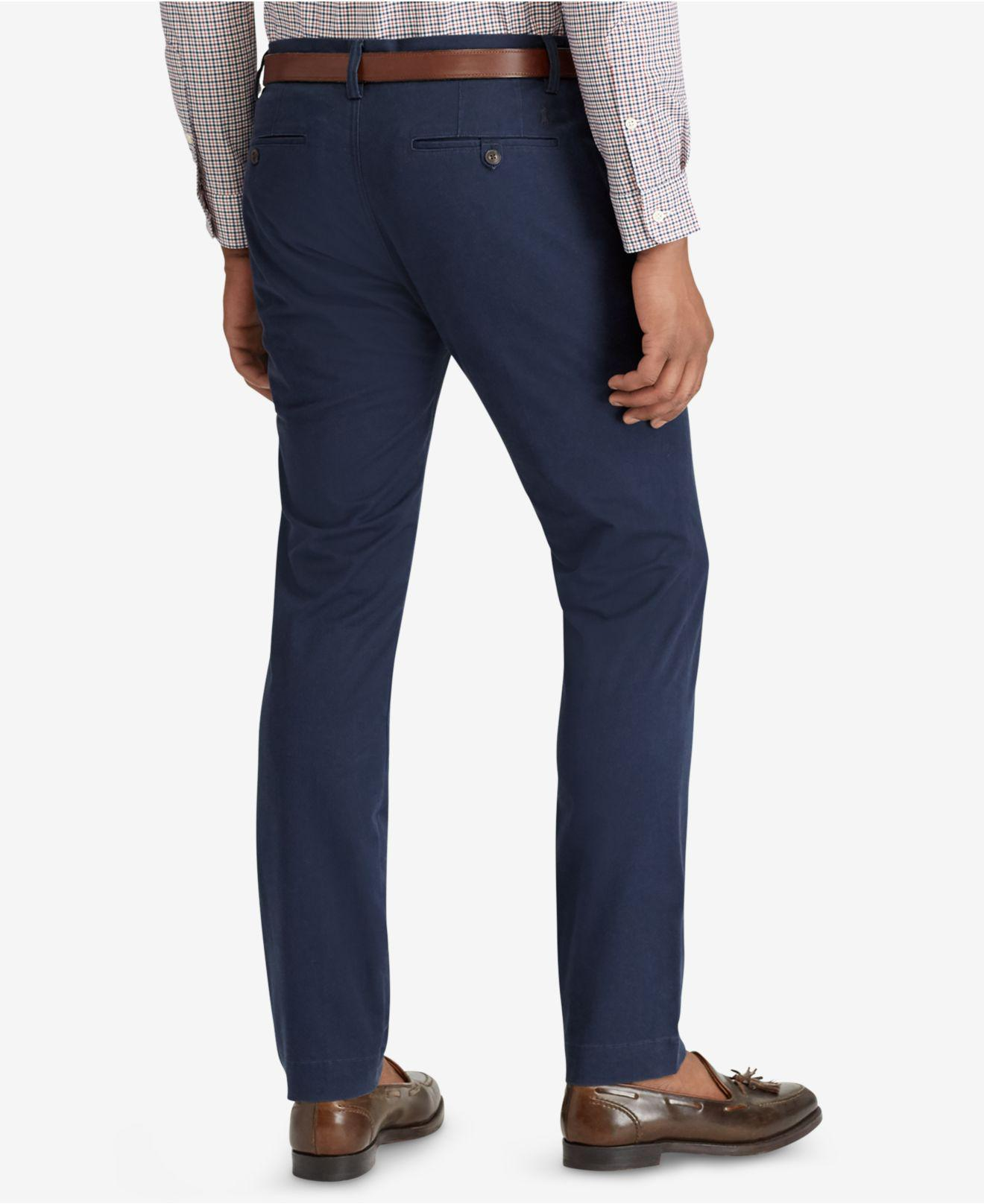 24d6e5574ee81 Lyst - Polo Ralph Lauren Men s Straight-fit Bedford Stretch Chino Pants in  Blue for Men