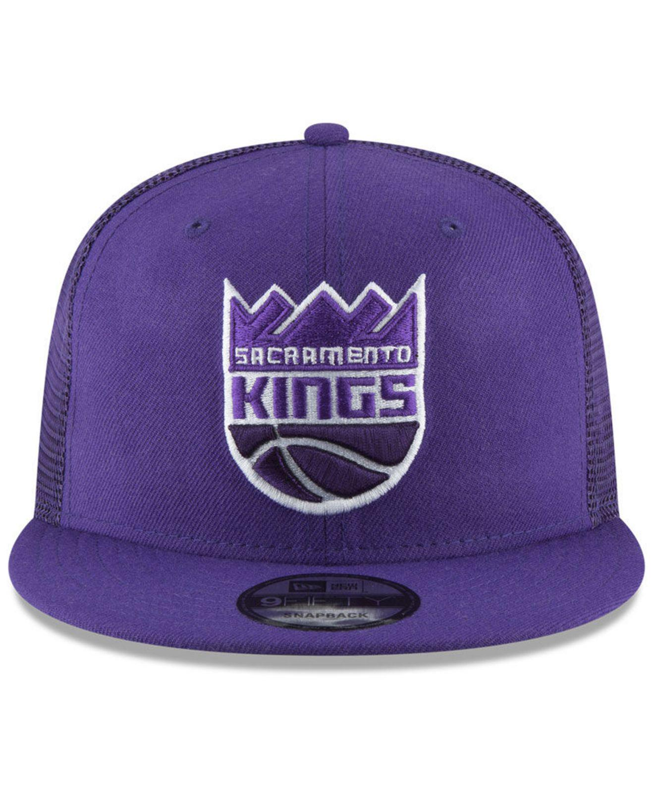 low priced bff8a 628a1 ... free shipping lyst ktz sacramento kings almost tonal trucker 9fifty  snapback cap in gray for men