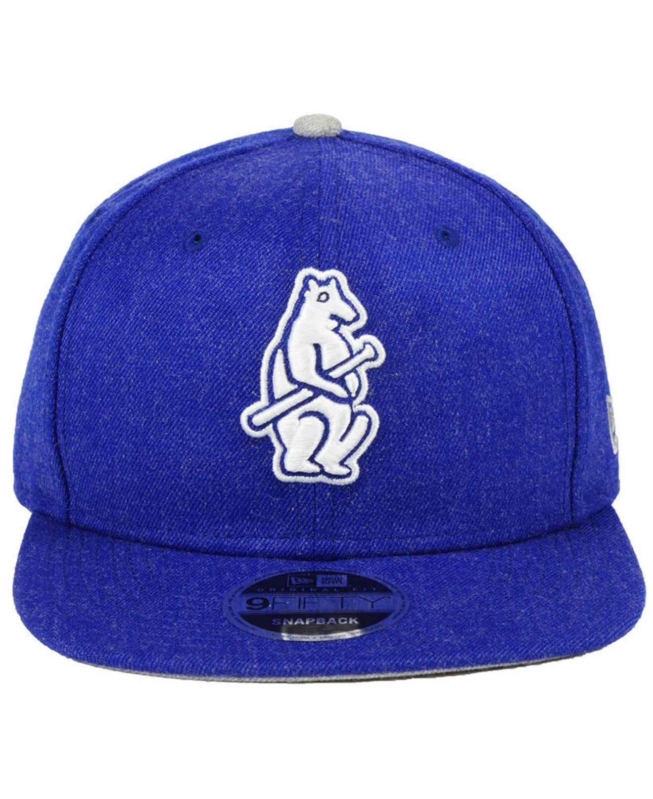 7a41ab59984 Lyst - KTZ Chicago Cubs Heather Hype 9fifty Snapback Cap in Blue for Men