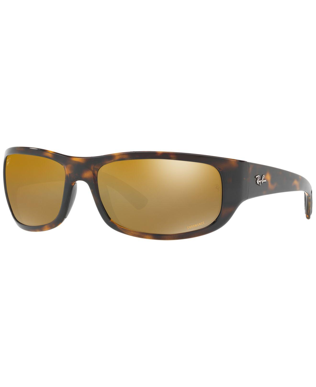 0e690bac7d Ray-Ban. Men s Brown Polarized Sunglasses