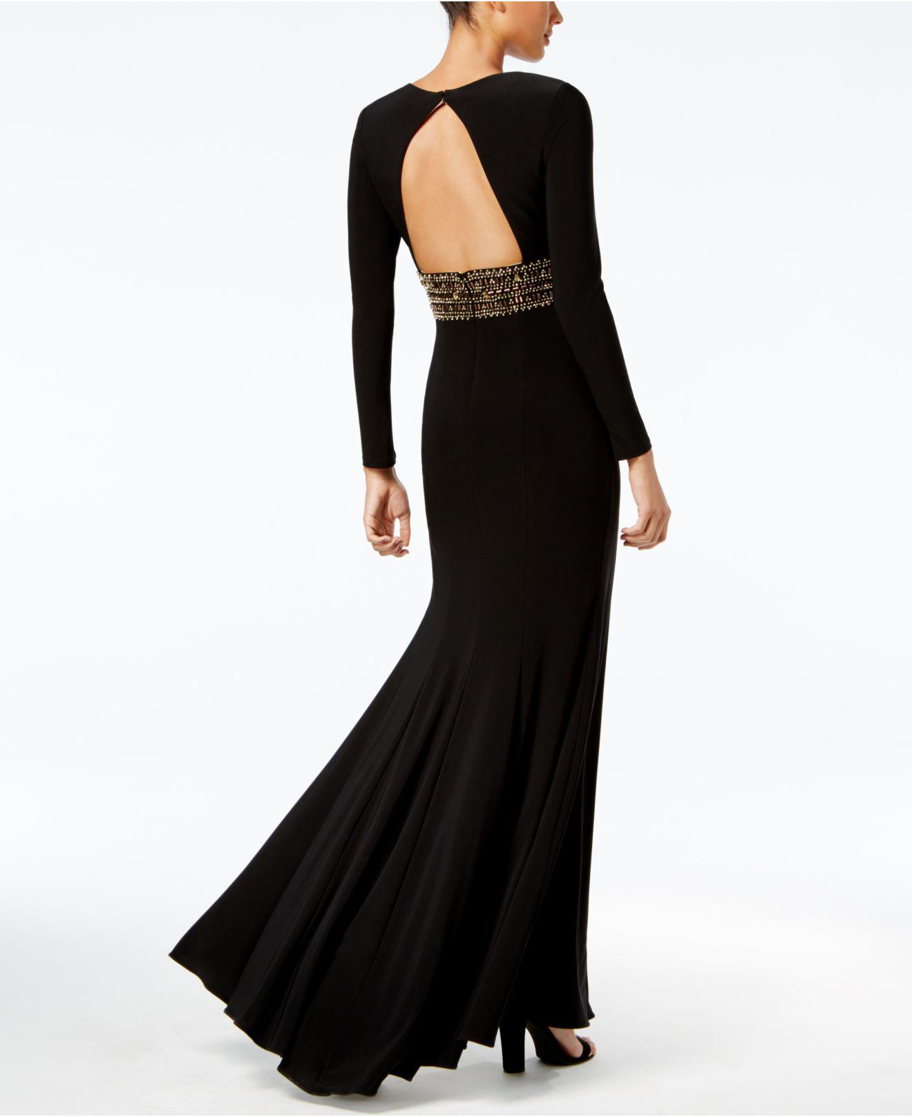 b101c8a4 Xscape Embellished A-line Gown in Black - Lyst