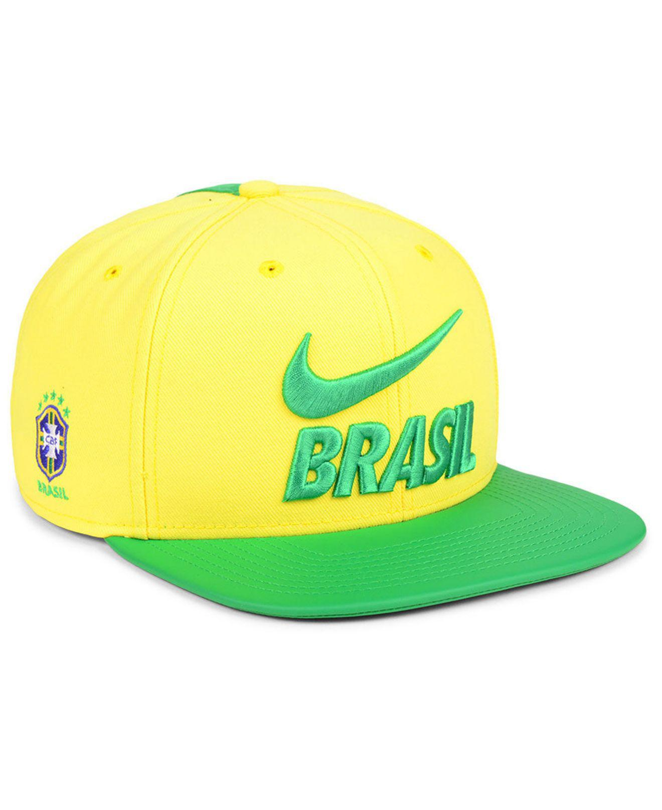 f1d62ad3728 Lyst - Nike Brazil National Team Snapback Cap in Yellow for Men