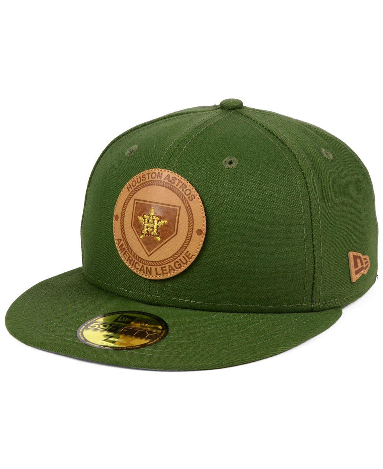 Lyst - KTZ Houston Astros Vintage Olive 59fifty Fitted Cap in Green ... ccfc06c6eca5