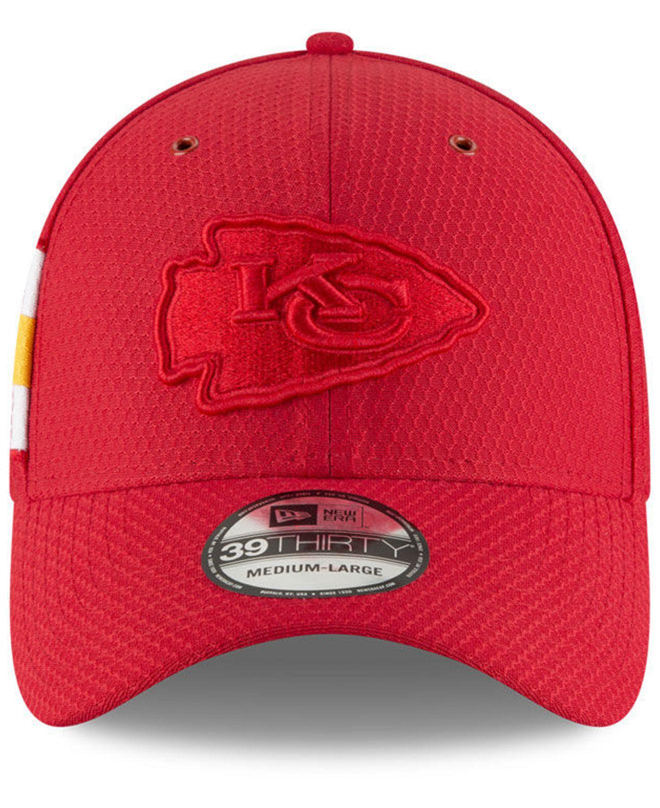 more photos 42ebe 2b0f3 Lyst - KTZ Kansas City Chiefs Official Color Rush 39thirty Stretch Fitted  Cap in Red for Men