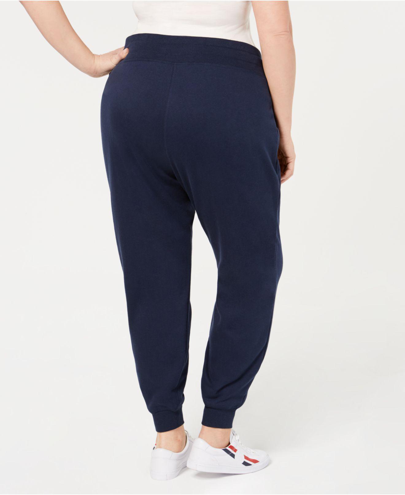 5071f75ba63 Lyst - Tommy Hilfiger Plus Size Logo Jogger Pants in Blue